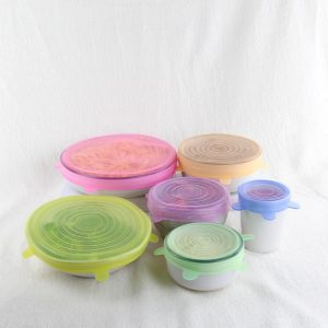 Coloured Silicone Food Covers