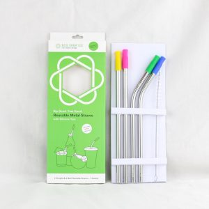 Silicone Tips Metal Straws