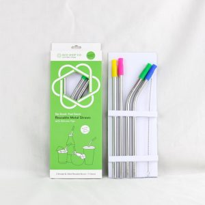 Coloured Assortment Metal Straw