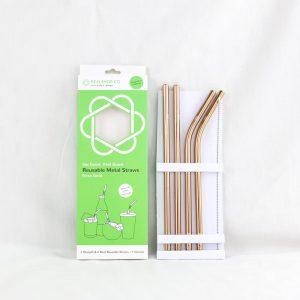 Rose Gold Colour Reusable Straws
