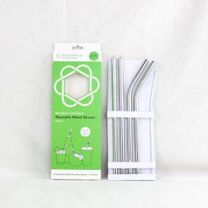 Silver Colour Reusable Straws